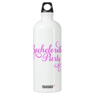 Fiesta de Bachelorette, arte rosado de la palabra,