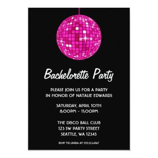 Fiesta de Bachelorette de la bola de discoteca de Invitaciones Personales