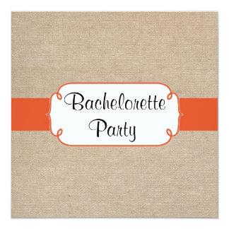 """Fiesta de Bachelorette de la mandarina y de la Invitación 5.25"""" X 5.25"""""""