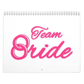 Fiesta de Bachelorette de la novia del equipo Calendario De Pared