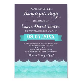 """Fiesta de Bachelorette de la playa de las olas Invitación 5"""" X 7"""""""