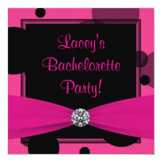 """Fiesta de Bachelorette de las rosas fuertes de las Invitación 5.25"""" X 5.25"""""""
