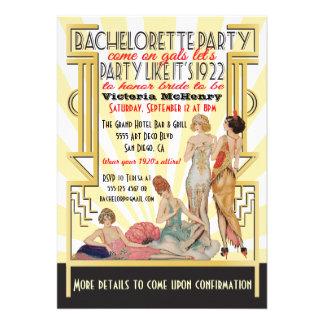 fiesta de Bachelorette del art déco de los años 20