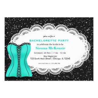Fiesta de Bachelorette del corsé Invitación