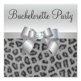 """Fiesta de Bachelorette del estampado leopardo, del Invitación 5.25"""" X 5.25"""""""