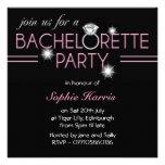 Fiesta de Bachelorette del rosa del anillo de Blin Invitacion Personal