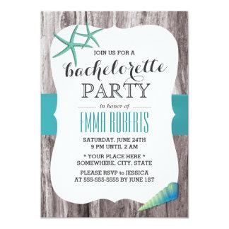"""Fiesta de Bachelorette del tema de la playa de los Invitación 5"""" X 7"""""""