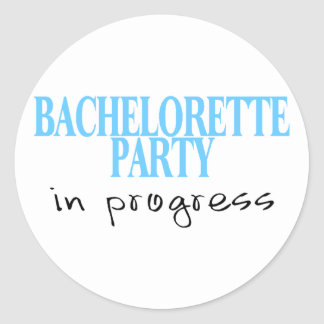 Fiesta de Bachelorette en curso (Bue) Pegatina Redonda