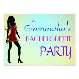 Fiesta de Bachelorette/invitación de la noche de Invitación 11,4 X 15,8 Cm