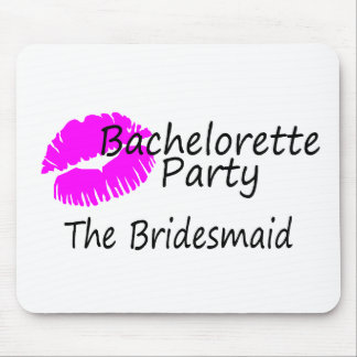 Fiesta de Bachelorette la dama de honor Alfombrillas De Ratón