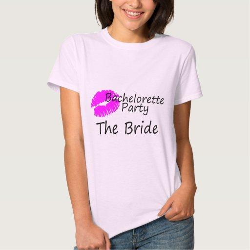 Fiesta de Bachelorette la novia Playeras