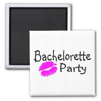 Fiesta de Bachelorette (labios rosados) Imán Para Frigorífico