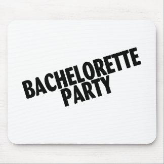 Fiesta de Bachelorette negro inclinado Tapete De Raton