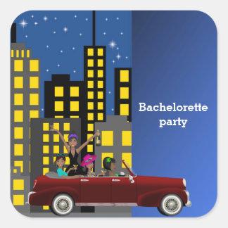 Fiesta de Bachelorette Pegatina Cuadrada