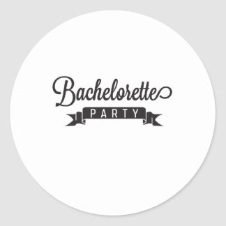 Fiesta de Bachelorette Pegatina Redonda