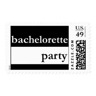 Fiesta de Bachelorette (raya gruesa blanca) Sellos