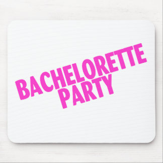Fiesta de Bachelorette rosa inclinado Tapetes De Ratón