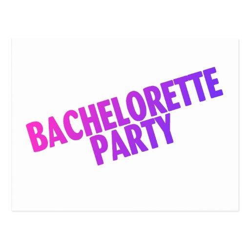 Fiesta de Bachelorette Tarjetas Postales