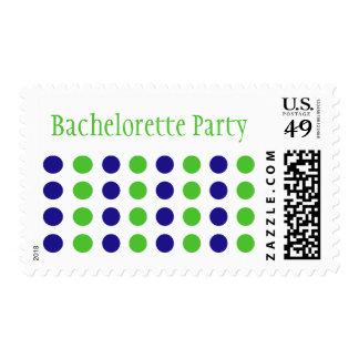 Fiesta de Bachelorette (verde lima/sello azul)