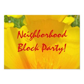 ¡Fiesta de barrio de la vecindad! Invitaciones Invitación 12,7 X 17,8 Cm