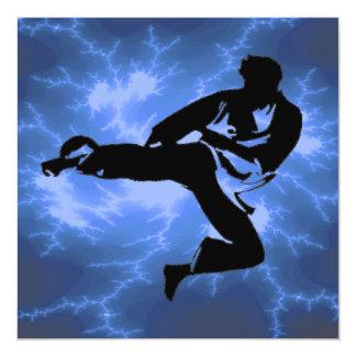 Fiesta de BDay del karate Comunicado Personalizado