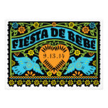 Fiesta de Bebe Colorful Love Birds Invitation