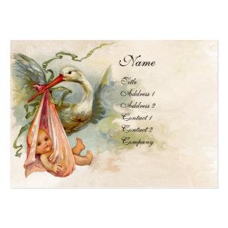 FIESTA DE BIENVENIDA AL BEBÉ 2, papel blanco rosad Plantillas De Tarjetas Personales