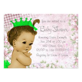 Fiesta de bienvenida al bebé adorable del rosa del invitacion personal