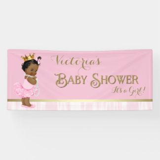 Fiesta de bienvenida al bebé afroamericana de lona