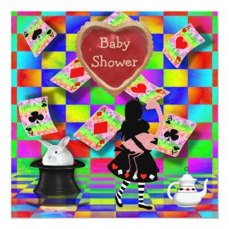 Fiesta de bienvenida al bebé agria de neón del invitación 13,3 cm x 13,3cm