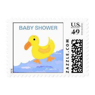 Fiesta de bienvenida al bebé amarilla del pato sellos