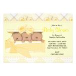 Fiesta de bienvenida al bebé amarilla dulce LINDA Invitacion Personal