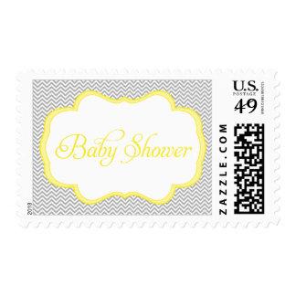 Fiesta de bienvenida al bebé amarilla gris del envio