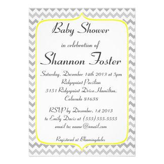 Fiesta de bienvenida al bebé amarilla y gris elega