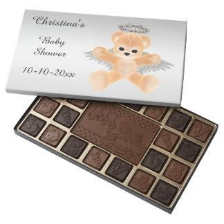 Fiesta de bienvenida al bebé anaranjada del oso de caja de bombones variados con 45 piezas