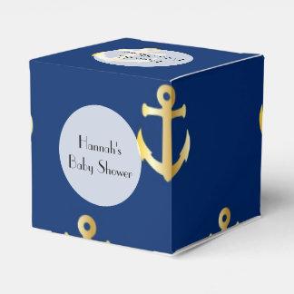 Fiesta de bienvenida al bebé - ancla náutica de cajas para regalos de boda