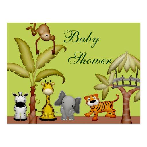 Fiesta de bienvenida al bebé animal de la postales