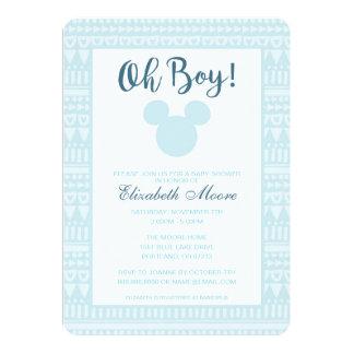 """Fiesta de bienvenida al bebé azteca azul de Mickey Invitación 5"""" X 7"""""""