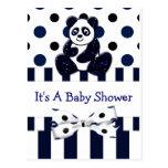 Fiesta de bienvenida al bebé azul de los puntos y  postal
