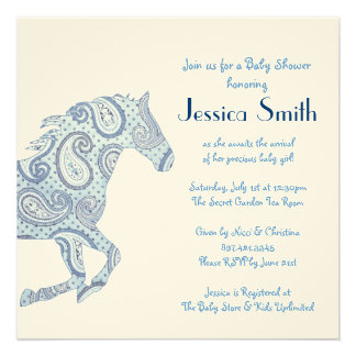Fiesta de bienvenida al bebé azul del caballo de P Anuncio