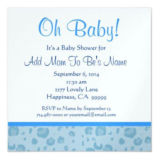 """Fiesta de bienvenida al bebé azul del muchacho del invitación 5.25"""" x 5.25"""""""