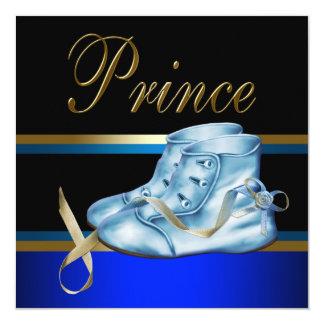 """Fiesta de bienvenida al bebé azul del Príncipe Invitación 5.25"""" X 5.25"""""""