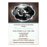 Fiesta de bienvenida al bebé azul del Sonogram del Invitación 12,7 X 17,8 Cm