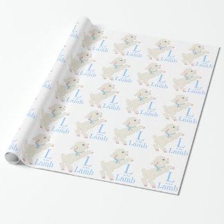 Fiesta de bienvenida al bebé azul dulce del papel de regalo