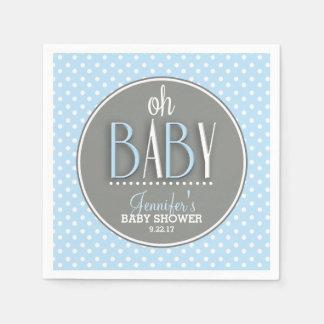 Fiesta de bienvenida al bebé azul elegante moderna servilleta desechable