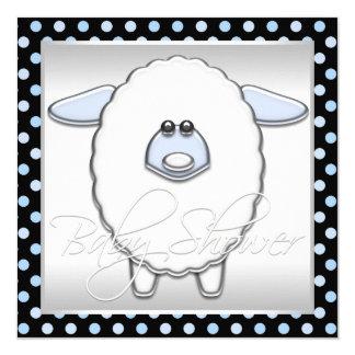 """Fiesta de bienvenida al bebé azul linda de las invitación 5.25"""" x 5.25"""""""