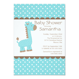 """Fiesta de bienvenida al bebé azul linda de los invitación 4.5"""" x 6.25"""""""
