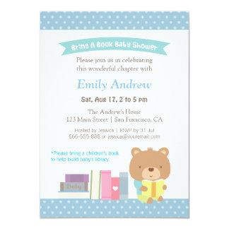 Fiesta de bienvenida al bebé azul linda del libro
