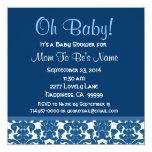Fiesta de bienvenida al bebé azul y blanca R003 Comunicado Personal