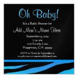 Fiesta de bienvenida al bebé azul y negra M101 del Comunicado